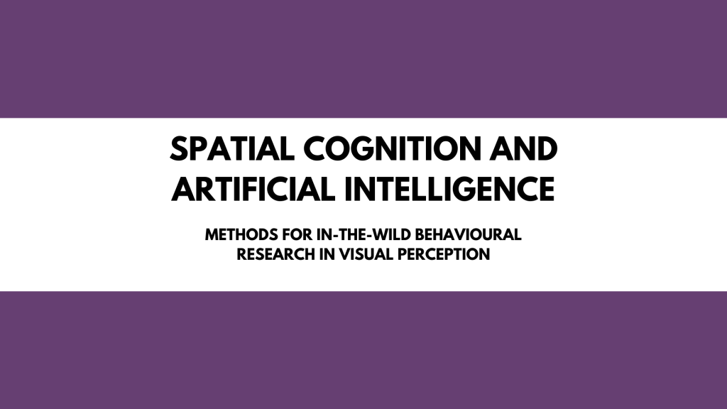 Tutorial: Spatial Cognition and Artificial Intelligence